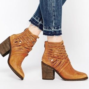 Free people carrera basket weave bootie